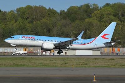 Neos Boeing 737-8 MAX 8 EI-RZC (msn 62872) BFI (Nick Dean). Image: 953510.