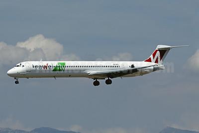 Trawel fly (Tend Air) McDonnell Douglas DC-9-82 (MD-82) YR-OTL (msn 48079) PMI (Javier Rodriguez). Image: 923910.