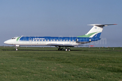 LatCharter Airlines Tupolev Tu-134B-3 YL-LBF (msn 63295) MSE (SPA). Image: 941128.