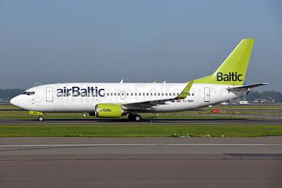 airBaltic Boeing 737-36Q WL YL-BBX (msn 30334) AMS (Ton Jochems). Image: 947376.