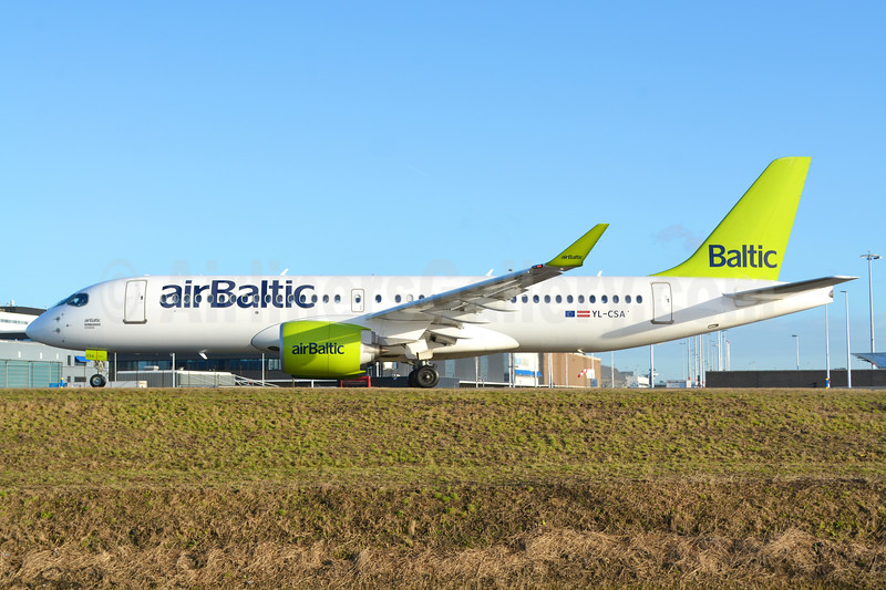 airBaltic Bombardier CS300 YL-CSA (msn 55003) AMS (Marco Finelli). Image: 936523.