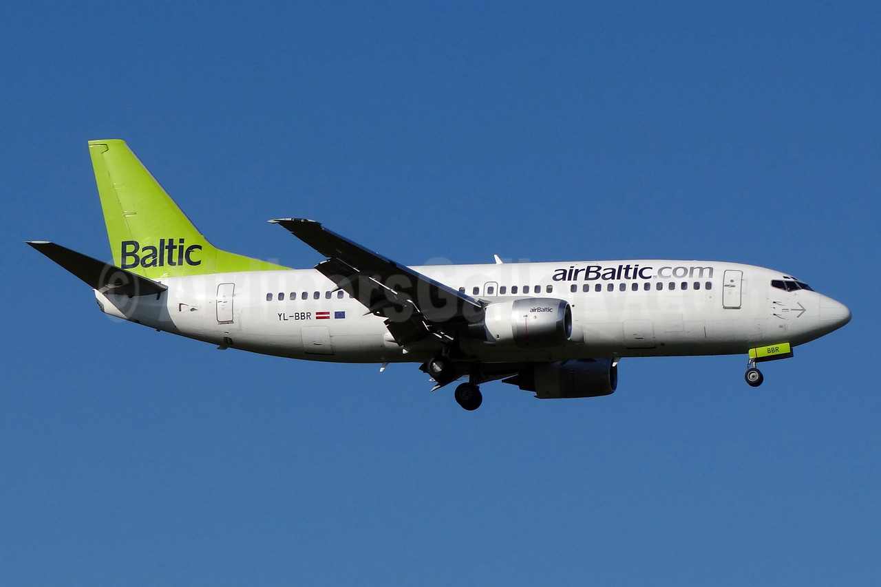 airBaltic (airBaltic.com) Boeing 737-31S YL-BBR (msn 29266) ZRH (Paul Bannwarth). Image: 930750.