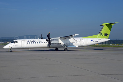 airBaltic (airBaltic.com) Bombardier DHC-8-402 (Q400) YL-BBW (msn 4448) ZRH (Rolf Wallner). Image: 934795.