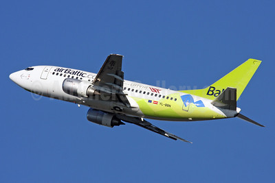 airBaltic (airBaltic.com) Boeing 737-522 YL-BBN (msn 26683) (Official Carrier of Latvia Team 2014 - Sochi) ZRH (Andi Hiltl). Image: 921623.