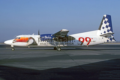"""2002 """"Toucan"""" promotional livery for routes to Riga"""