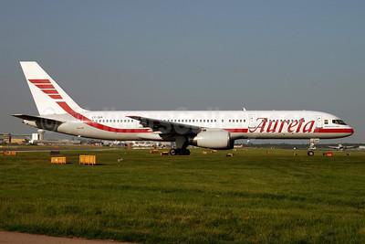 Aurela Aircompany Boeing 757-23N LY-SKR (msn 30233) LGW (Terry Wade). Image: 909344.