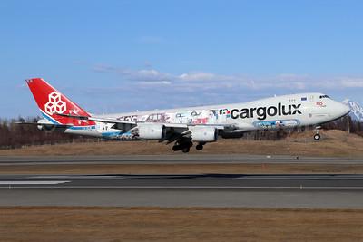 "Cargolux's 2015 ""You name it, we fly it"" logo jet"