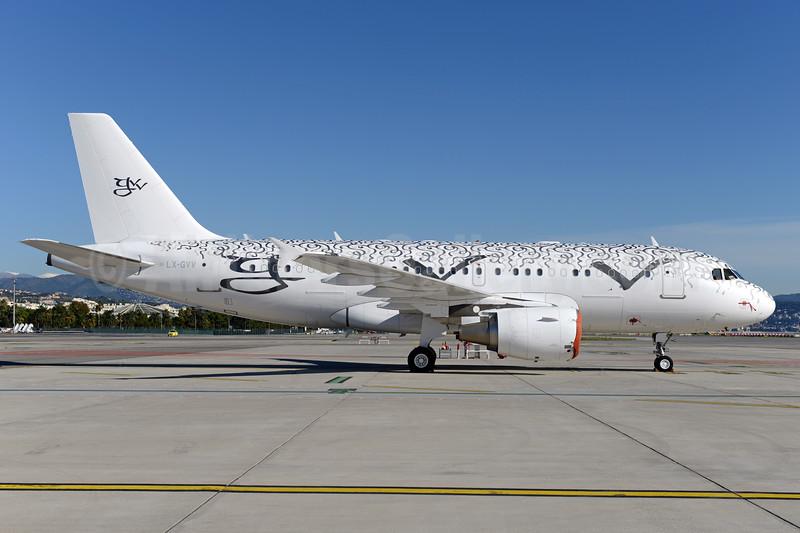 Global Jet Luxembourg Airbus A319-115 (ACJ) LX-GVV (msn 3542) NCE (Ton Jochems). Image: 933264.