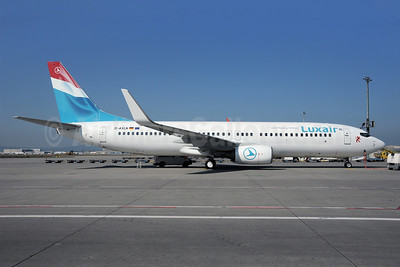 Luxair-Luxembourg Airlines Boeing 737-86J WL D-AXLK (msn 32920) FRA (Bernhard Ross). Image: 908091.