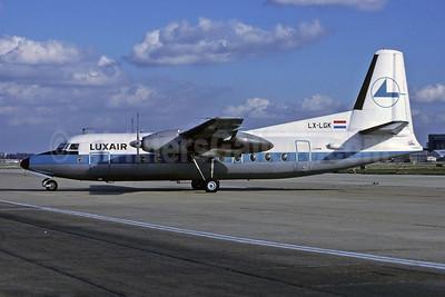 Luxair (Luxembourg Airlines) Fokker F.27 Mk. 200 LX-LGK (msn 10280) LHR (Richard Vandervord). Image: 907567.