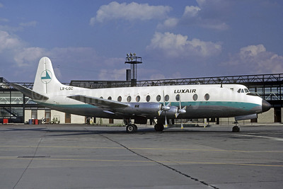 Luxair (Luxembourg Airlines) Vickers Viscount 815 LX-LGC (msn 376) LGW (Jacques Guillem Collection). Image: 907568.