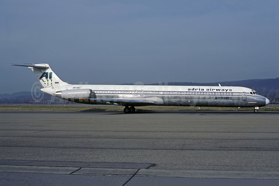 Avioimpex - Adria Airways McDonnell Douglas DC-9-82 (MD-82) S5-ABC (msn 49379) (Adria Airways colors) ZRH (Rolf Wallner). Image: 941085.