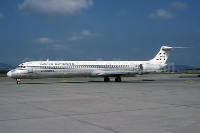 Avioimpex - Adria Airways McDonnell Douglas DC-9-81 (MD-81) S5-ABE (msn 48046) (Adria Airways colors) ZRH (Rolf Wallner). Image: 941084.