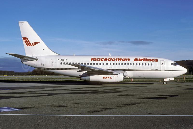 Macedonian Airlines-MAT Boeing 737-2K5 F-GMJD (msn 22599) (Aigle Azur colors) ZRH (Rolf Wallner). Image: 921789.