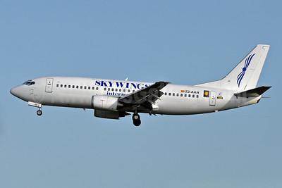 Skywings International (Airlift Service) Boeing 737-382 Z3-AAN (msn 24365) BRU (Karl Cornil). Image: 905472.