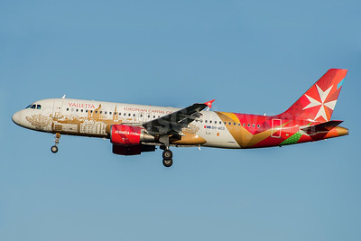 "Air Malta's 2013 ""Valletta - European Capital of Culture 2018"" logo jet"