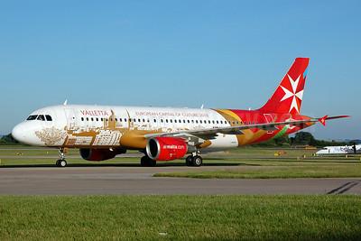 The Air Malta promotional logo jet for Valletta, Malta
