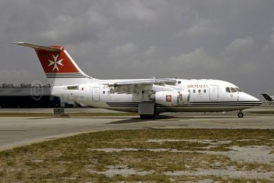 Air Malta (2nd) (BAe) BAe RJ70 (146-RJ70) G-OLXX (msn E1228) MIA (Bruce Drum). Image: 105044.