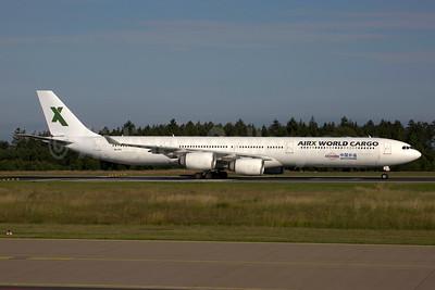 AirX World Cargo (AirX Charter) Airbus A340-642 9H-FFC (msn 431) HHN (Rainer Bexten). Image: 954606.