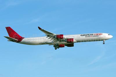 European Cargo Moving > Forward (Maleth-Aero) Airbus A340-642 (F) 9H-PPE (msn 787) (Virgin Atlantic colors) JFK (Fred Freketic). Image: 951904.