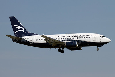Montenegro's first Boeing 737, leased from Air X Charter