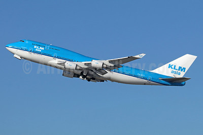 KLM Asia (KLM Royal Dutch Airlines) Boeing 747-406 PH-BFY (msn 30455) LAX (Michael B. Ing). Image: 935891.