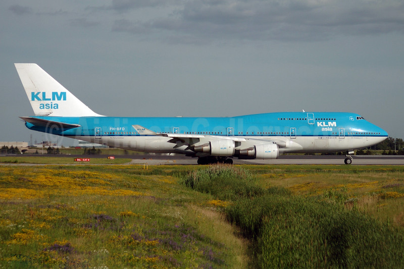 KLM Asia (KLM Royal Dutch Airlines) Boeing 747-406 PH-BFD (msn 24001) YYZ (TMK Photography). Image: 900290.