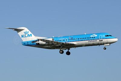KLM Cityhopper Fokker F.28 Mk. 0070 (Fokker 70) PH-KZG (msn 11578) AMS (Wim Callaert). Image: 937633.