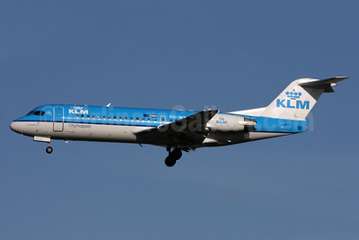 KLM Cityhopper Fokker F.28 Mk. 0070 (Fokker 70) PH-WXD (msn 11563) LHR (SPA). Image: 937634.
