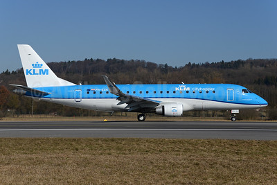 KLM Cityhopper Embraer ERJ 170-200STD (ERJ 175) PH-EXH (msn 17000564) ZRH (Rolf Wallner). Image: 937006.