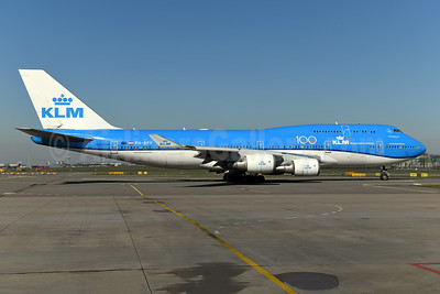 KLM Royal Dutch Airlines Boeing 747-406 PH-BFY (msn 30455) (100 Years) AMS (Ton Jochems). Image: 949486.