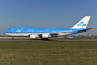 KLM Royal Dutch Airlines Boeing 747-406 PH-BFS (msn 28195) (100 Years) AMS (Ton Jochems). Image: 949484.
