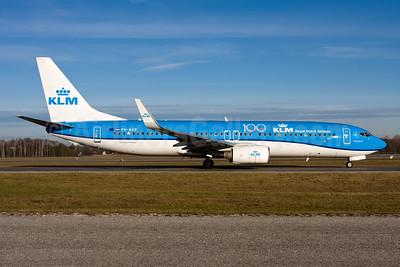 KLM Royal Dutch Airlines Boeing 737-8K2 WL PH-BXE (msn 29595) (100 Years) MUC (Gunter Mayer). Image: 955489.