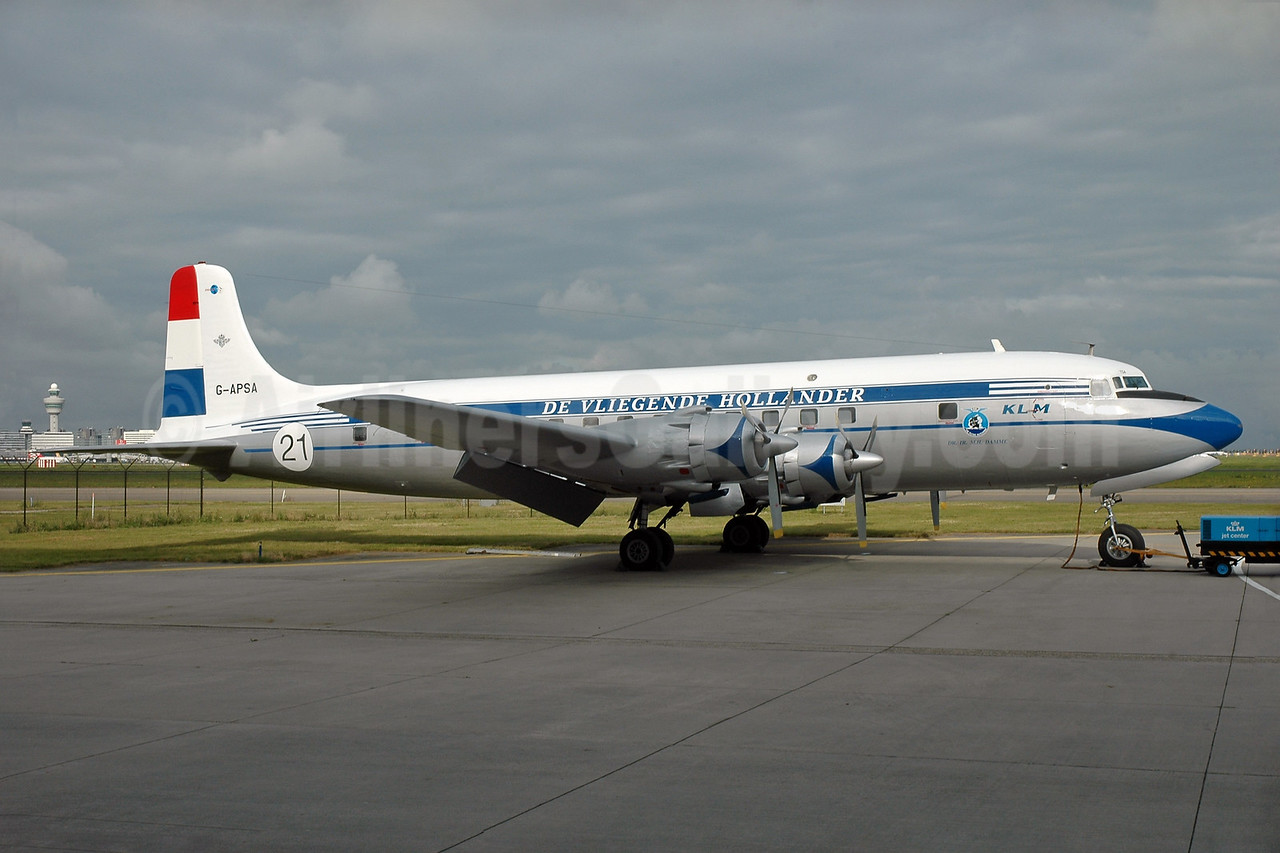 KLM-The Flying Dutchman (Atlantic Airlines UK) Douglas DC-6A G-APSA (msn 45497) AMS (Ger Buskermolen - Bruce Drum Collection). Image: 931693.