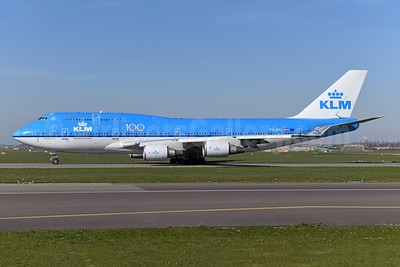 KLM Royal Dutch Airlines Boeing 747-406 PH-BFL (msn 25356) (100 Years) AMS (Ton Jochems). Image: 949482.