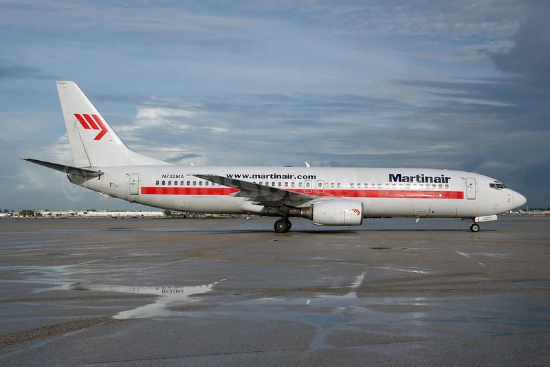 Martinair (Miami Air) Boeing 737-81Q N732MA (msn 30618) MIA (Bruce Drum). Image: 100447.