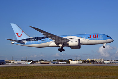 TUI Airlines (Netherlands) Boeing 787-8 Dreamliner PH-TFM (msn 36429) MIA (Bruce Drum). Image: 104938.
