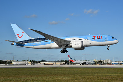 TUI Airlines (Netherlands) Boeing 787-8 Dreamliner PH-TFL (msn 37228) MIA (Bruce Drum). Image: 105237.