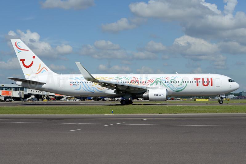 TUI Airlines (Netherlands) (PrivatAir) Boeing 767-316 ER WL HB-JJF (msn 27613) AMS (Ton Jochems). Image: 938208.
