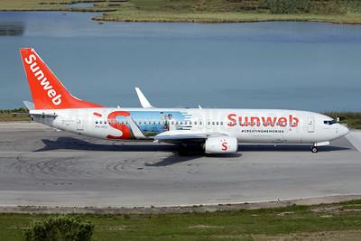Sunweb (Transavia Airlines) (Transavia.com) (Netherlands) Boeing 737-8K2 WL PH-HSJ (msn 42150) (#CreatingMemories) CFU (Antony J. Best). Image: 942913.