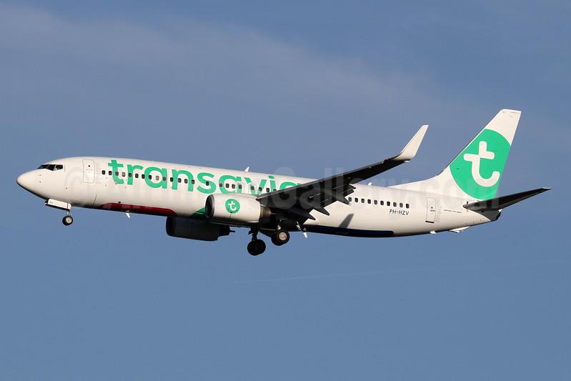 Transavia Airlines (Netherlands) Boeing 737-8K2 WL PH-HZV (msn 30650) LHR (SPA). Image: 940343.