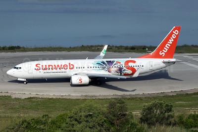 Sunweb (Transavia Airlines) (Transavia.com) (Netherlands) Boeing 737-8K2 WL PH-HSJ (msn 42150) (#CreatingMemories) CFU (Antony J. Best). Image: 942914.