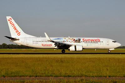 Sunweb (Transavia Airlines) (Transavia.com) (Netherlands) Boeing 737-8K2 WL PH-HZG (msn 28379) (#CreatingMemories) AMS (Karl Cornil). Image: 941134.