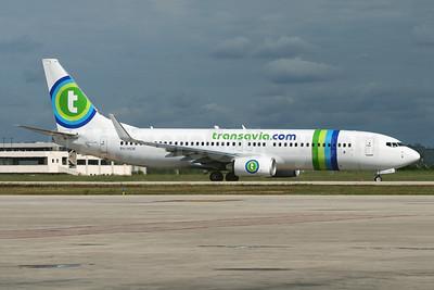 Transavia Airlines (Transavia.com) (Netherlands) Boeing 737-8K2 WL PH-HSW (msn 37160) PMI (Javier Rodriguez). Image: 902846.