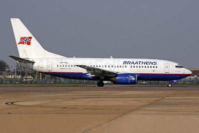 Braathens Boeing 737-705 LN-TUL (msn 29097) LHR (SPA). Image: 951942.