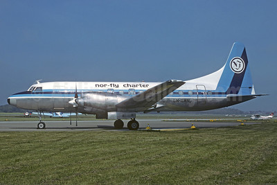 Nor-Fly Charter Convair 580 LN-BWN (msn 114) ZRH (Christian Volpati Collection). Image: 924786.