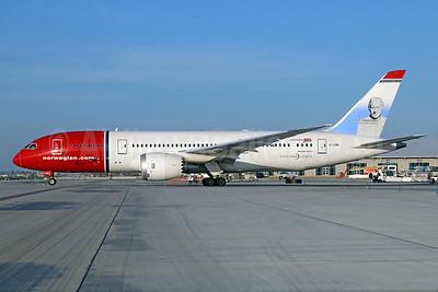 Norwegian Air Shuttle (Norwegian.com) (Norwegian Long Haul) Boeing 787-8 Dreamliner EI-LNB (msn 35305) (Thor Heyerdahl) LAX. Image: 923150.