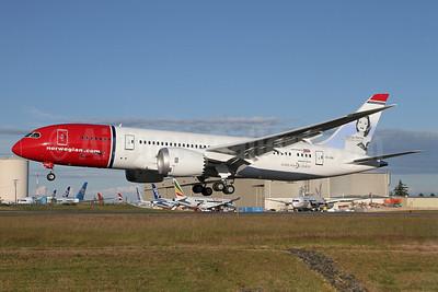 Norwegian Air Shuttle (Norwegian.com) (Norwegian Long Haul) Boeing 787-8 Dreamliner EI-LNA (msn 35304) (Sonja Henie) PAE (Duncan Kirk). Image: 912717.
