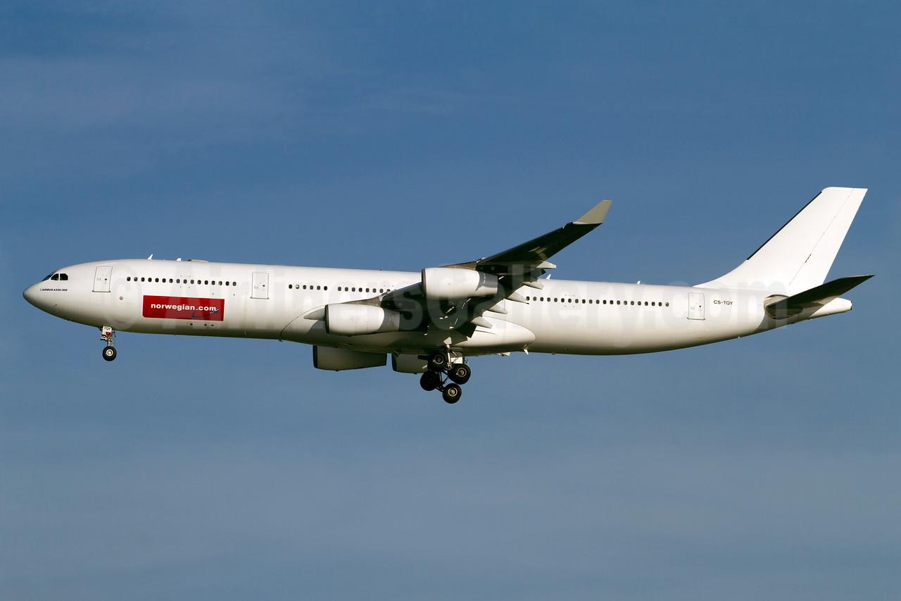 Norwegian Air Shuttle (Norwegian.com) (Hifly) Airbus A340-313X CS-TQY (msn 190) BKK (Kok Chwee K.C. Sim). Image: 913126.