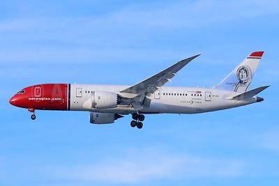 Norwegian Air Shuttle (Norwegian.com) (Norwegian Long Haul) Boeing 787-8 Dreamliner LN-LNE (msn 34796) (Roald Amundsen) LAX (Michael B. Ing). Image: 944579.